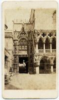 CDV Venezia Porta di Palazzo Ducale Foto originale albumina C. Ponti 1860c S1427