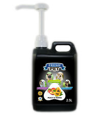 Fresh Pet Cleaner for Dogs & Cats - With Pum Peach And Papaya 2.5L - Black