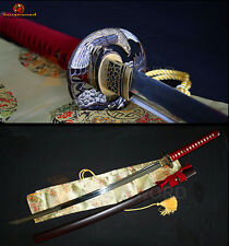 T10 Steel Japanese KATANA Full Tang Clay Tempered Battle Sharp Samurai Sword