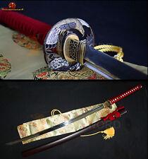 T10 Steel Japanese KATANA Full Tang Clay Tempered Battle Sharp Samurai Sword