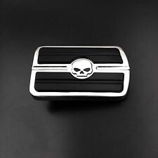 Custom Touring Chopper Softail Brake Pedal Large Pad Skull Chrome For Harley