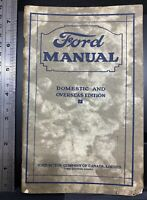 Ford Manual, Domestic and Overseas Edition, owners and operators, 1926, antique