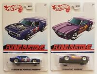 HOT WHEELS Flying Customs '67 & '73 Pontiac Firebird NEW Target Exclusive F/S