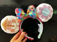 Disney Parks it's a small world Clock Minnie Mouse Sequin Ears Headband