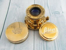 Leitz Elmar 1:3.5 F=5cm Vintage Russian EXCELLENT Gold Lens to camera Leica 2(D)