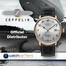 Zeppelin LZ129 Hindenburg Automatic watch 40mm Silver dial Rose Gold case 7068-1