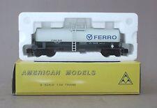 American Models CVSG 2003 Ferro Tank Car Flyer Compatible- Blue & Gray