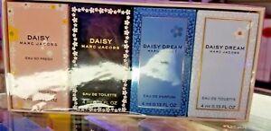Marc Jacobs 4 Pc MINI EDP EDT Set DAISY EAU SO FRESH + DREAM + FOREVER for Women