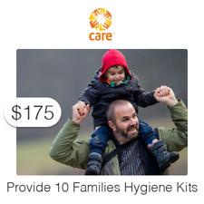 $175 Charitable Donation For: Provide 10 Families Hygiene Kits