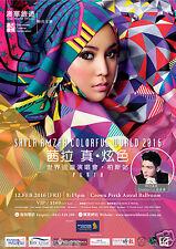 "SHILA AMZAH ""COLORFUL WORLD 2016"" PERTH, AUSTRALIA CONCERT TOUR POSTER"