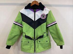 WOMEN'S~Vintage~ARCTIC CAT~Arctic Wear~GREEN ~Snowmobile~JACKET~Long Coat~BELT~S