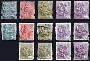 ENGLAND 2001-2008 Three Lions, Lion & Shield, Oak Tree &  Tudor Rose series USED