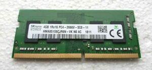 SK HYNIX 4GB DDR4 1RX8 PC4-2666V RAM Memory Laptop SODIMM TESTED 862397-855