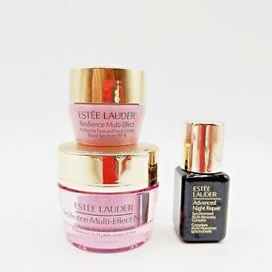 Set of Estee Lauder Resilience Multi-Effect Night Cream 0.5 oz Day Cream 0.24oz