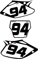 NEW DIRTX INDUSTRIES CUSTOM NUMBER PLATE GRAPHICS KIT CRF450 CRF 450R 2002-2008