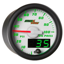 MaxTow 52mm White Oil PSI Pressure Gauge Meter Digital Analog Readouts MT-WDV04