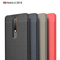 For Nokia 6.1(Nokia 6 2018) Ultra Thin PU Leather Soft TPU Shockproof Case Cover