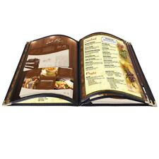 20pcs Menu Covers 5 Page 10 View 85x14 Fold Book For Restaurant Hotel Cafe Bar