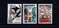 GREECE 1986 EUROPEAN ROAD SAFETY YEAR SET OF 3 MINT NEVER HINGED MNH
