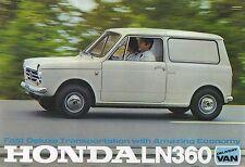 1968 HONDA LN 360 Delivery Van - 4 Page Sales Colour Sales Brochure -  NOS