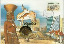 NAMIBIE NAMIBIA RHINOCEROS SPRINGBOK OISEAU AIGLE EAGLE NUE NUDE 1 DOLLAR 1994