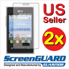2x LG optimus logic L35G Anti-Glare LCD Screen Protector Guard Shield Cover Film