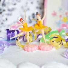 6 Ballerina Yellow Cake Topper Ballet Favor Dance Birthday Party Decor Cupcake