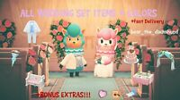 COMPLETE Cyrus and Reese Wedding Set + Colors: Animal Crossings New Horizons