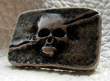 Ziernieten Totenkopf Skull Fat Boy Schädel Piratenkopf Altsilber groß 5x3cm neu