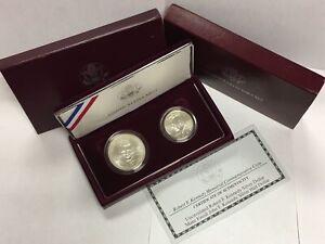 1998-S $1 & 50c Robert F. Kennedy Commem Silver Two-Coin Set in OGP BU & Matte