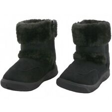 Toddler Baby Winter Boots Faux Suede Fur-Lining Side-Zip Pull-loops Snow Shoes