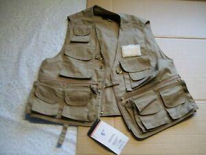 "American Fisherman's Mens M ""Deluxe Sportsman's Fishing Vest (Has Game Bag) NWT"