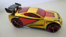 loose mint 2007 mystery car POWER RAGE  gold chrome with red & black