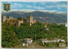 Granada General sight of Alcazaba and Sierra 1985 Postcard (P262)