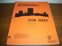 """ORIGINAL 1985 """"SPENSER FOR HIRE"""" REVISED FINAL DRAFT SCRIPT USED ON THE TV SHOW"""