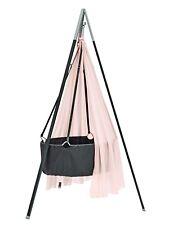 Ausstellungsstück Leander - Babywiege grau mit Stativ grau + Himmel soft pink !
