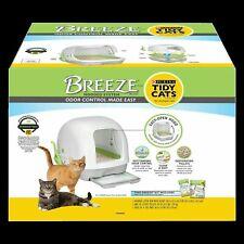 Purina Tidy Cats 16868 Breeze Hooded System Starter Kit Litter Box