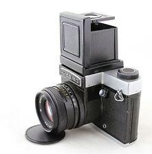 Kiev 60 TTL Arsenal vintage SLR camera & prism viewfinder & WLF, lens Volna-3 MC