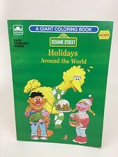 Sesame Street Golden Coloring Book Holidays Around the World Vintage 1992 New