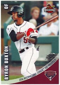 2016 Choice International League Top Prospects Byron Buxton Rochester Red Wings