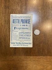 Keith Prowse & Co's Programme July 24, 1897
