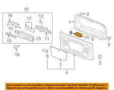 Hummer GM OEM 06-10 H3 Back Door-Fog Light Lamp Cover 15837467