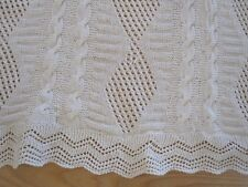 "Bed & Bath Linens Loyal Beautiful Vintage Hand Crocheted Ivory Lace Coverlet 71""x 90"" Linens & Textiles (pre-1930)"