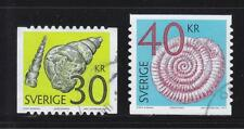 SWEDEN 2011 FOSSILS (MOLLUSC & CUTTLEFISH) HIGH VALUE COMP. SET OF 2 STAMPS USED