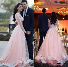 2019 Long Wedding Ball Gown Bridesmaid Formal Evening Dress Party Prom Dresses