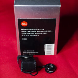 Leica 1.25X Viewfinder Magnifier 12 004  for M cameras -- MINT condition