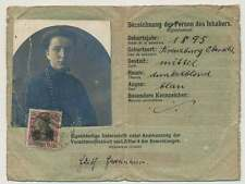 Postal passport: Altenburg 1915 - twice used RARE!!!