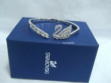 Swarovski Swan Lake Bangle, Size: S Clear Crystal Authentic MIB 5258396