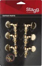Mechaniken für  elektrische oder Folk Gitarre E-Gitarre  Set inkl. Schrauben