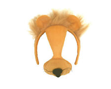 Child's Lion Headband Mask Cute Furry Whiskers Ears Nose Costume Cowardly Oz